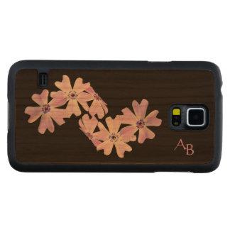 3 Purple Flowers Monogrammed Cherry Galaxy S5 Case