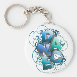 3D Dance (Spring) Basic Round Button Key Ring