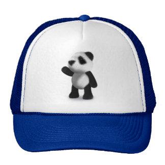 3d Panda Wave Cap