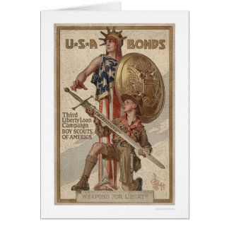 3rd Liberty Loan Campaign Boy Scouts (Restored) Greeting Card