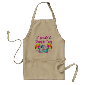 40 YRS OLD AND READY TO PARTY STANDARD APRON
