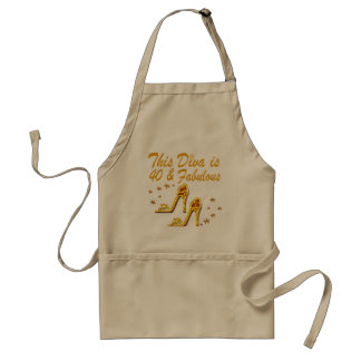 40TH GOLD SHOES STANDARD APRON