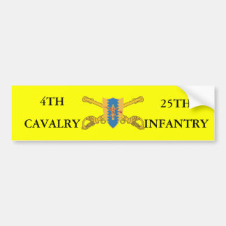 4TH CAVALRY 25TH INFANTRY BUMPER STICKER