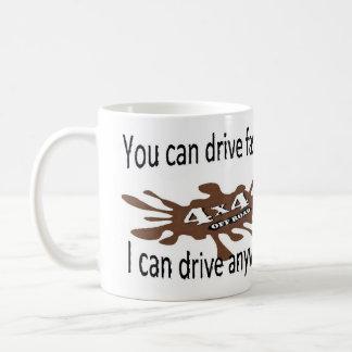 4x4 off road drive anywhere basic white mug