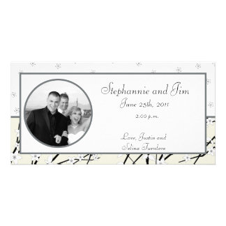 4x8 Engagement Photo Announcement Winter Blossom Customised Photo Card