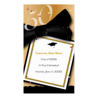 50 Year Class Reunion Informational Card Pack Of Standard Business Cards