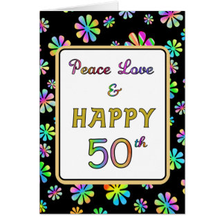 50th Birthday Wishes Greeting Card