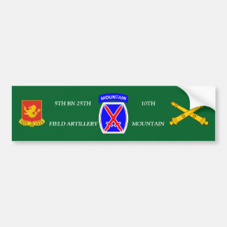 5TH BN 25TH FIELD ART 10TH MOUNTAIN BUMPER STICKER