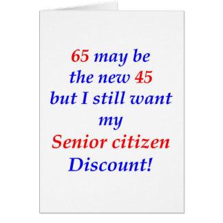 65 Senior Citizen Greeting Card