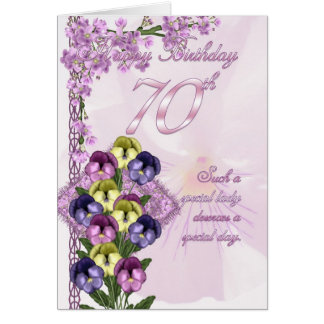 70th Birthday Card For A Special Lady