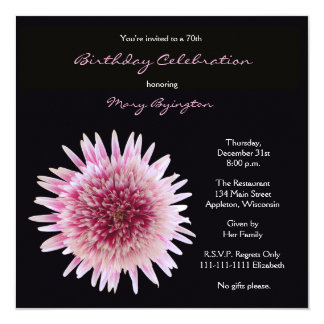 70th Birthday Party Invitation Gorgeous Gerbera