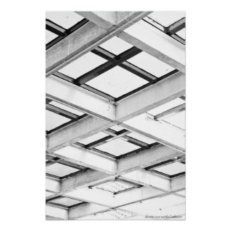 722013 Black And White Structure Photograph Poster