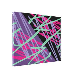 80s eighties vintage colors splash medley art stretched canvas prints