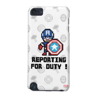8Bit Captain America - Reporting For Duty! iPod Touch (5th Generation) Cover