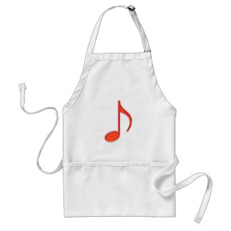 8th Note Large Red Plastic 2010 Standard Apron