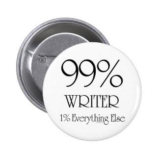 99% Writer 6 Cm Round Badge