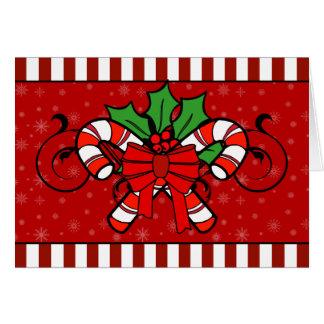 A7 Candy Cane Stripes Christmas Card