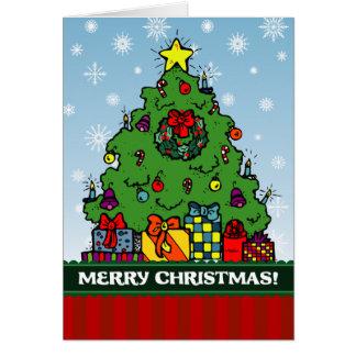A7 Festive Christmas Tree Holiday Greeting Card