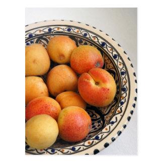 A bowl of Mediterranean Apricots 2 Postcard
