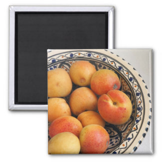 A bowl of Mediterranean Apricots 2 Square Magnet