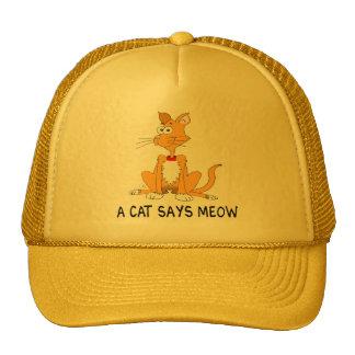 A Cat Says Meow Cap