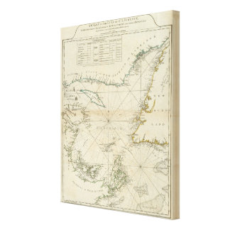 A Chart Of The Gulf Of St Lawrence Canvas Prints