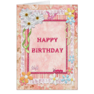 A craft birthday card