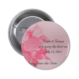 A Dozen Roses Save the Date Buttons