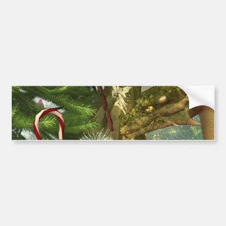 A Dragon and Fairies Christmas Bumper Sticker