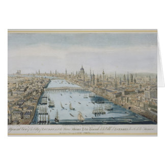 A General View of the City of London and the River Greeting Card