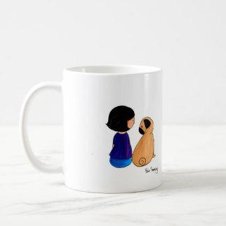 A Girl And Her Pug Basic White Mug