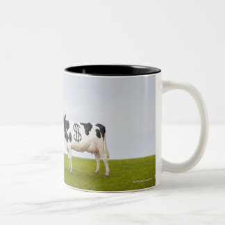 A Holstein Dairy cow with spots in the shape of Two-Tone Mug