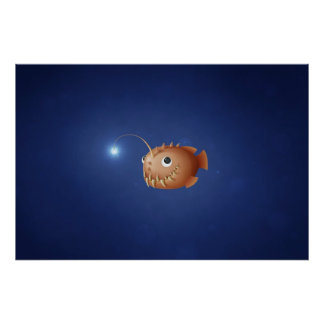A Little Anglerfish Poster