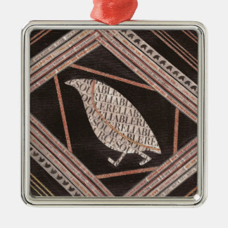 A Little Bird Told Me Silver-Colored Square Decoration
