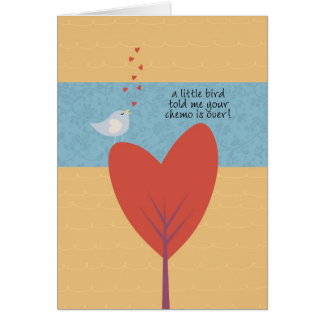 A Little Bird Told Me Your Chemo is Over! Greeting Card