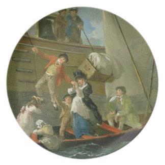 A Married Sailor's Adieu, c.1800 (oil on panel) Dinner Plates