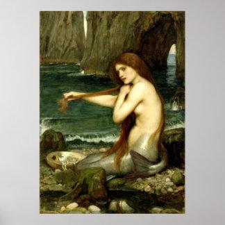 A Mermaid (1901) ~ Fine Art Canvas Poster