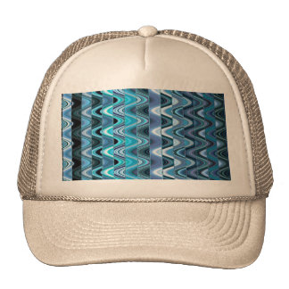 A Modern Abstract Colorful Wave Pattern Cap