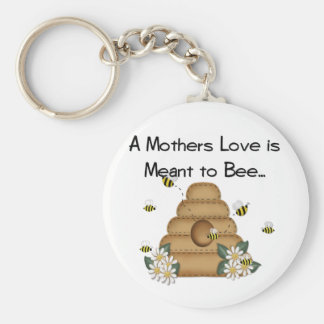 A Mother's Love is Meant to Bee Keychain