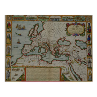 A New Map of the Roman Empire Postcard