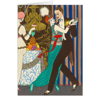 A Night in Decadent Paris Art Deco Greeting Card