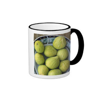A plate of fresh Mediterranean Figs Ringer Mug