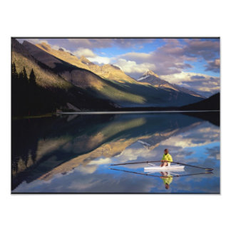 A rower on Banff Lake in the Canada MR) Photo