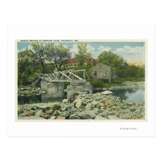 A Rustic Bridge at Perkins Cove Scene Postcard