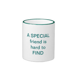 A SPECIAL friend is hard to FIND Ringer Mug