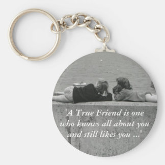 A True Friend Basic Round Button Key Ring