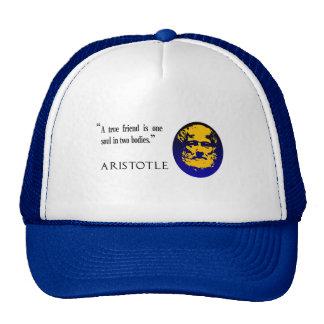 A true friend by Aristotle. Baseball cap