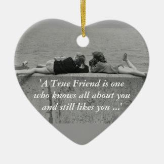 A True Friend Ceramic Heart Decoration