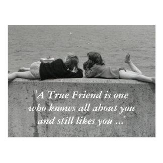 A True Friend Postcard
