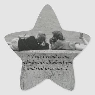 A True Friend Star Sticker